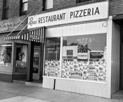 1960s Restaurant Pizzeria Storefront Poster Print By Vintage Collection (32 X 36) - Item # PPI177164LARGE