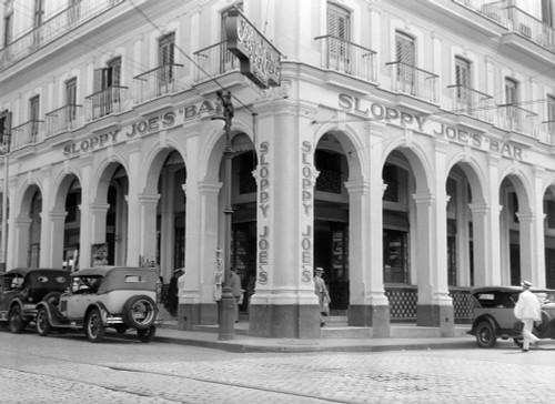 1930s Outside Facade Of Sloppy Joe'S Bar Said To Be Origin Of Sloppy Joe Sandwich Old Havana Cuba Print By Vintage - Item # PPI172434LARGE