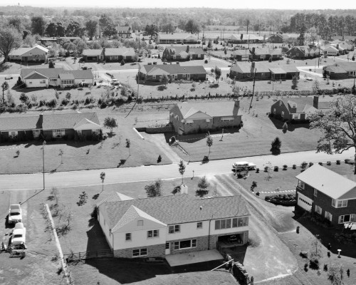 1950s-1960s Aerial View Of Suburban Housing Development Beatty Hills Springfield Pennsylvania Usa Print By Vintage - Item # PPI176366LARGE