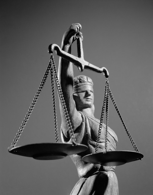 1970s Statue Of Blind Justice Holding Scales Poster Print By Vintage Collection (22 X 28) - Item # PPI179366LARGE
