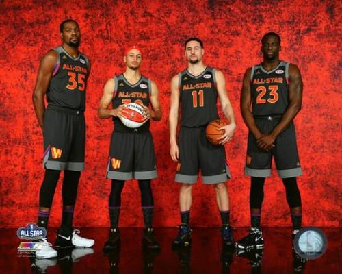 Kevin Durant, Stephen Curry, Klay Thompson, & Draymond Green 2017 NBA All-Star Game Photo Print - Item # VARPFSAATX237