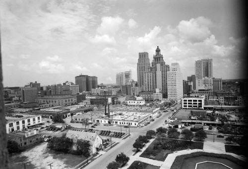 1940s Skyline Of Business District Of Houston Texas From City Hall Poster Print By Vintage Collection - Item # VARPPI195730