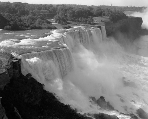 1960s American Falls Portion Of Niagara Falls New York Usa Poster Print By Vintage Collection - Item # VARPPI179815
