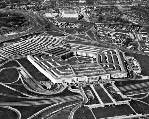 1960s Aerial View Of Army Pentagon And Navy Annex Arlington Virginia Usa Poster Print By Vintage Collection (22 X 28) - Item # PPI178853LARGE