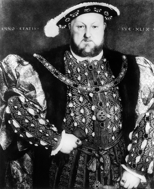 1500s-1540 Portrait Of King Henry Viii England Looking At Camera By Hans Holbein Print By Vintage Collection - Item # VARPPI178403
