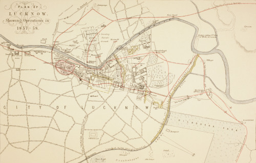 Plan Of Lucknow Showing Operations During The Siege And Indian Rebellion Of 1857 - 1858. From The Age We Live In, A History Of The Nineteenth Century PosterPrint - Item # VARDPI1903876