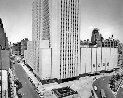 1950s New York Coliseum At Columbus Circle New York City Usa Poster Print By Vintage Collection (22 X 28) - Item # PPI179017LARGE