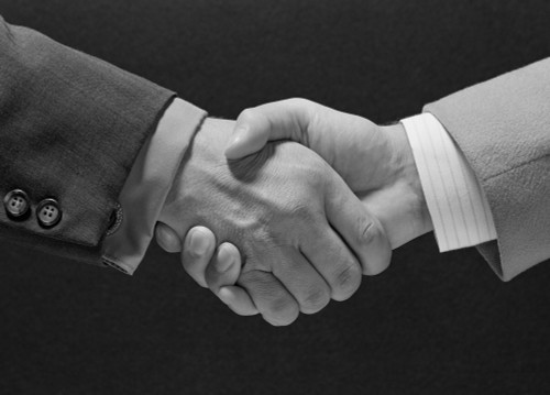 1960s Male Handshake Poster Print By Vintage Collection (24 X 36) - Item # PPI179363LARGE