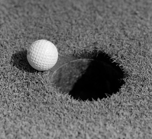 1950s Close-Up Of Golf Ball On Green On Very Edge Of Cup Poster Print By Vintage Collection (32 X 36) - Item # PPI187274LARGE