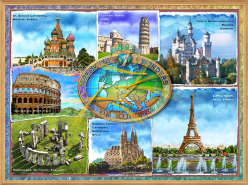 7 Man-made Wonders of Europe Poster Print by Adrian Chesterman - Item # VARMGL25026