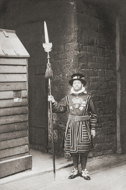 A Beefeater, Guardian Of The Tower Of London, England, In The Late 19Th Century. From London, Historic And Social, Published 1902. PosterPrint - Item # VARDPI2220896