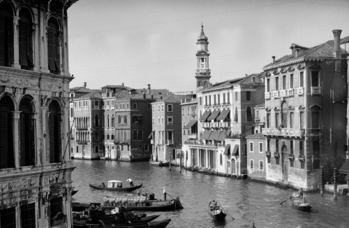 1920s-1930s Grand Canal From Rialto Bridge Venice Italy Poster Print By Vintage Collection - Item # VARPPI195625
