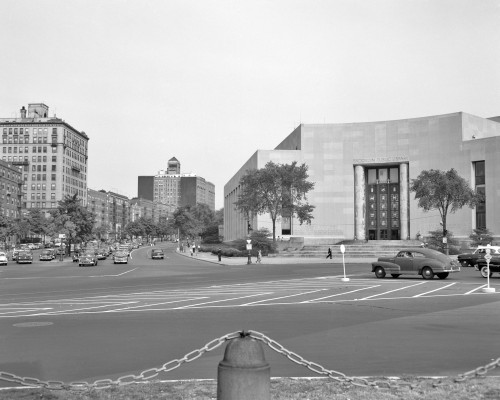 1950s Brooklyn Public Library Borough Nyc As Seen From The Grand Army Plaza Looking To Eastern Parkway Print By Vintage - Item # PPI178965LARGE