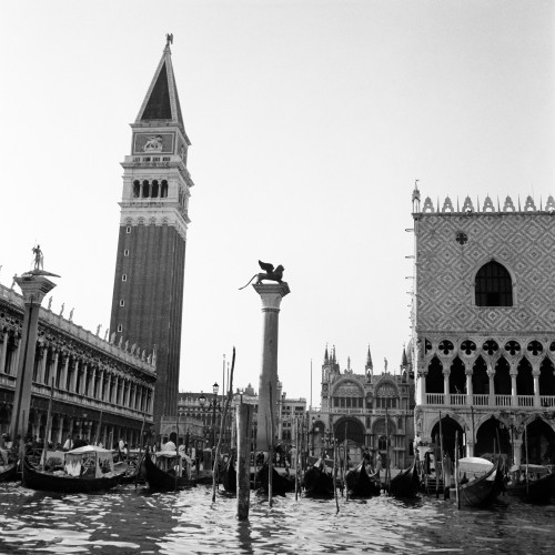 1920s-1930s Venice Italy Piazza San Marco Campanile Tower And Winged Lion Statue Print By Vintage Collection - Item # PPI179065LARGE