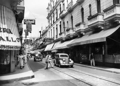 1930s-1940s Shopping Area San Rafael Avenue Havana Cuba Poster Print By Vintage Collection - Item # VARPPI178726