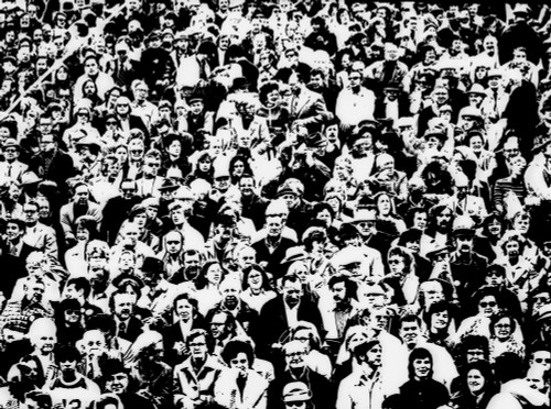 1960s Posterization Of Large Crowd In Sporting Event Bleachers Poster Print By Vintage Collection (24 X 36) - Item # PPI186223LARGE