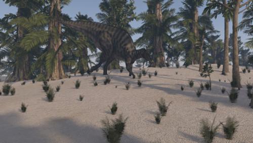 Saurolophus walking in an island environment Poster Print - Item # VARPSTKVA600783P