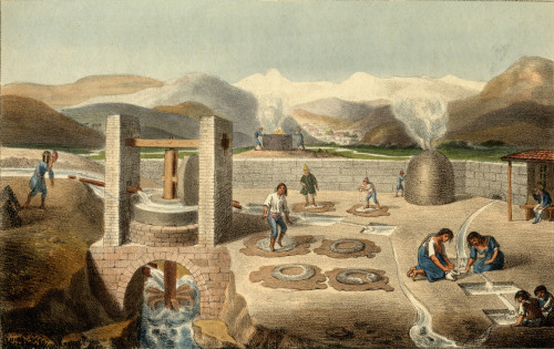 Silver And Copper Works In South America. Sketched By P.S.- On Stone By G. Scharf. PosterPrint - Item # VARDPI1857533