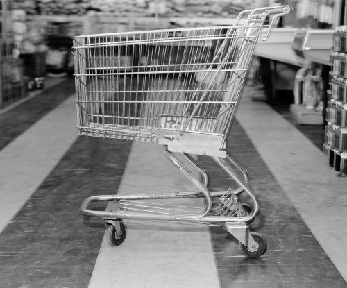 1960s Empty Shopping Cart In Supermarket Grocery Store Poster Print By Vintage Collection (32 X 36) - Item # PPI176855LARGE