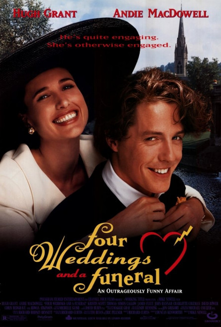 Four Weddings and a Funeral Movie Poster Print (27 x 40) - Item # MOVGF6409