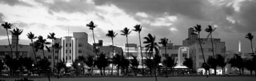 Buildings Lit Up At Dusk, Ocean Drive, Miami Beach, Florida, USA Poster Print - Item # VARPPI172772