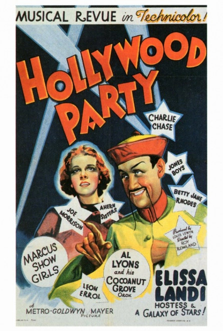Hollywood Party Movie Poster Print (27 x 40) - Item # MOVEF5175