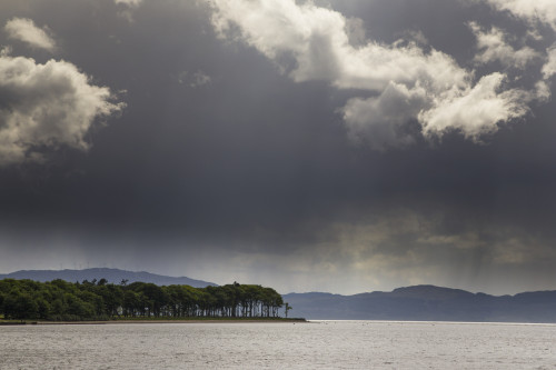 Trees and mountains along the coastline under storm clouds; Otter Ferry, Scotland PosterPrint - Item # VARDPI12290110