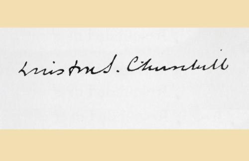 Signature Of Winston S. Churchill 1874 To 1965. From King Albert_S Book, Published 1915. PosterPrint - Item # VARDPI1861950