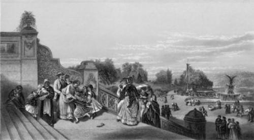 The Terrace  Central Park ca.1872 Charles G. Rosenberg Etching Poster Print - Item # VARSAL9001060