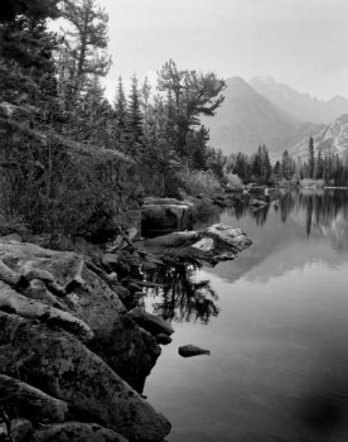 USA  Colorado  Rocky Mountain National Park  Bear Lake  high angle view Poster Print - Item # VARSAL255416612