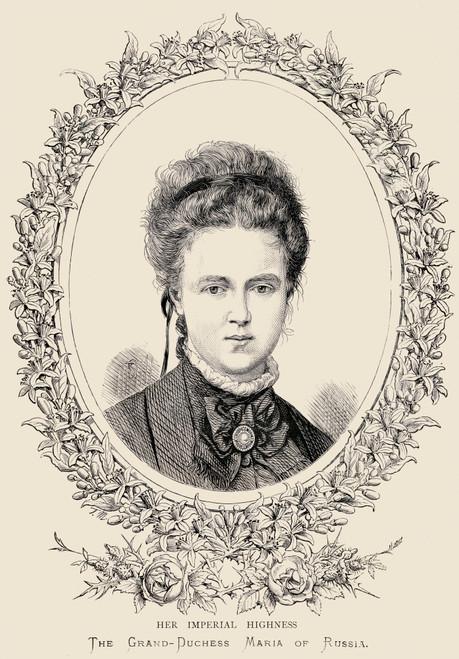 Maria Alexandrovna, Her Imperial Highness Grand Duchess Of Russia, 1853 _ 1920 PosterPrint - Item # VARDPI1857345