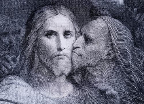 The Kiss. Judas Iscariot Kisses Jesus Christ In The Garden Of Gethsemane. From El Mundo Ilustrado, Published Barcelona, Circa 1880. Poster Print (8 x 10) - Item # MINDPI1958102