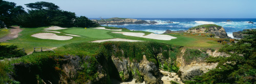 High angle view of a golf course, Cypress Point Golf Course, Pebble Beach, California, USA Poster Print (8 x 10) - Item # MINPPI68217L