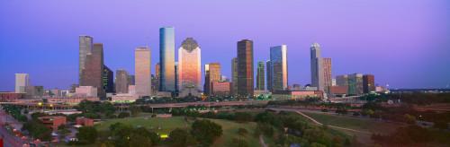 Houston Skyline, Memorial Park, Dusk, Texas Poster Print (8 x 10) - Item # MINPPI159875S