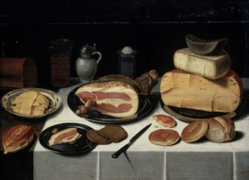 Still Life with Ham , 17th C. , Floris van Schooten (8 x 10) , Musee du Louvre, Paris Poster Print (8 x 10) - Item # MINSAL11582146