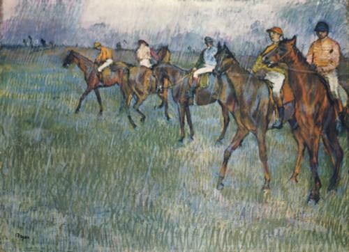 Jockeys in the Rain c.1881 Poster Print by  Edgar Degas - Item # VARPPHPDP85006