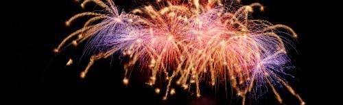 Cluster of fireworks exploding Poster Print (8 x 10) - Item # MINPPI81648