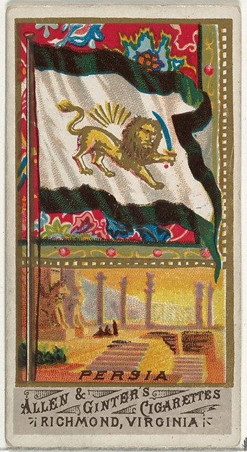 Persia, from Flags of All Nations, Series 1 (8 x 10) for Allen & Ginter Cigarettes Brands Poster Print (8 x 10) - Item # MINMET407275