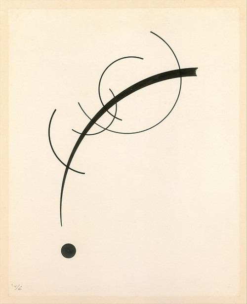 Free Curve to the Point - Accompanying Sound of Geometric Curves Poster Print by Vasily Kandinsky (8 x 10), Moscow 1866  �1944 Neuilly-sur-Seine) (8 x 10) - Item # MINMET480895