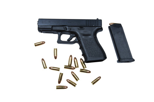 Glock Model 19 handgun with 9mm ammunition Poster Print (8 x 10) - Item # MINPSTTMO100650M
