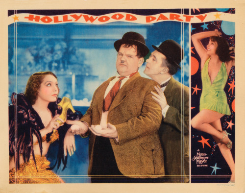 Hollywood Party From Left: Lupe Velez Oliver Hardy Stan Laurel 1934 Movie Poster Masterprint (8 x 10) - Item # MINEVCMCDHOPAEC075H