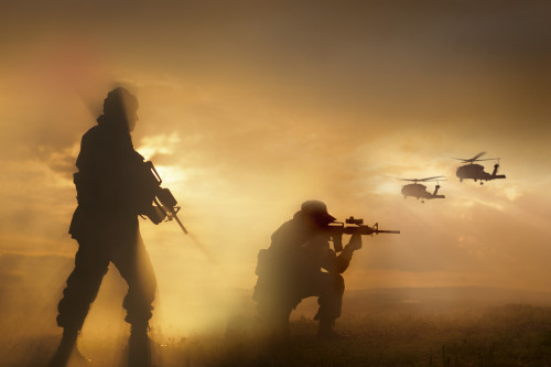 U.S. Special Forces provide security for two incoming UH-60 Black Hawk helicopters Poster Print (8 x 10) - Item # MINPSTTWE300005M