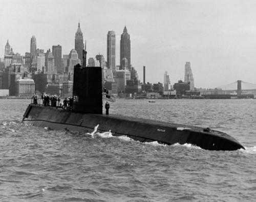Submarine in the sea, USS Nautilus (8 x 10), Nuclear-Powered Submarine, New York City, New York State, USA Poster Print (8 x 10) - Item # MINSAL25525352
