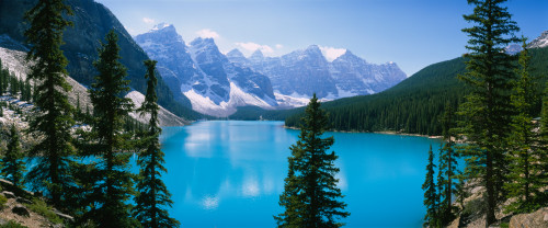 High angle view of a lake, Moraine Lake, Valley of ten peaks, Banff National Park, Alberta, Canada Poster Print (8 x 10) - Item # MINPPI26173S