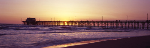Pier over the ocean at dusk, Newport Pier, Newport Beach, Orange County, California, USA Poster Print (8 x 10) - Item # MINPPI127291S