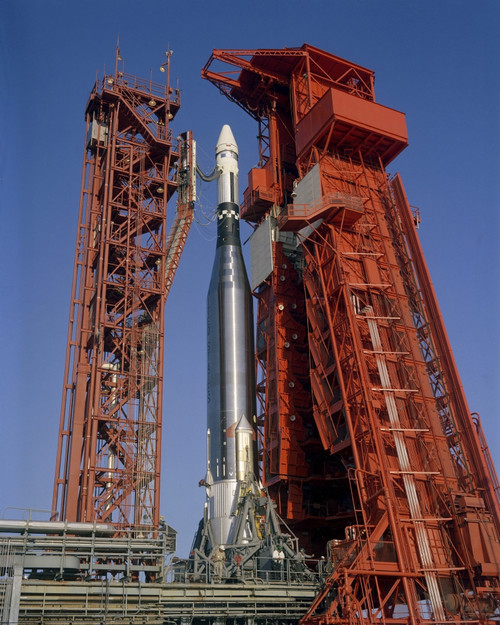 View of Launch Pad 14 during prelaunch operations for the Atlas/Agena Poster Print - Item # VARPSTSTK203917S