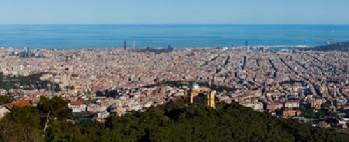 Aerial view of a city, Barcelona, Catalonia, Spain Poster Print (8 x 10) - Item # MINPPI151725L