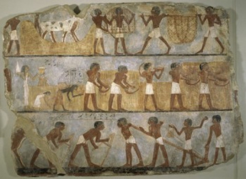 Scenes of Agricultural Work , Egyptian Art , Musee du Louvre, Paris Poster Print (8 x 10) - Item # MINSAL11581769