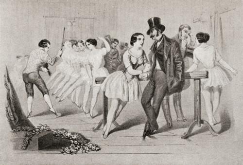 A 19th century ballet class. From Illustrierte Sittengeschichte vom Mittelalter bis zur Gegenwart by Eduard Fuchs, published 1909. PosterPrint - Item # VARDPI2430241