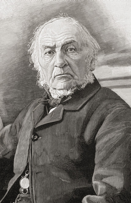 William Ewart Gladstone, 1809 To 1898. British Liberal Party Statesman And Four Times Prime Minister Of The United Kingdom. From The Book Gladstone The Man And The Statesman By David Williamson. PosterPrint - Item # VARDPI1872762